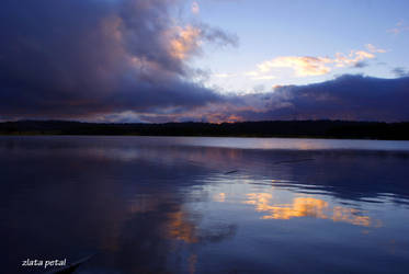 blue lake by Zlata-Petal