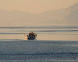 Sailing at Dusk by AkronadoreR