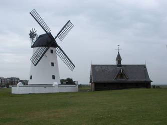 Lytham St Annes Windmill and Lifeboat House by rlkitterman