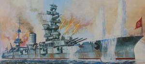 Soviet Battleship Marat by rlkitterman