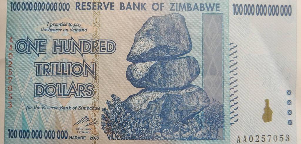 100 Trillion Zimbabwean Dollars By Rlkitterman