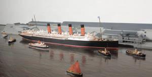 Cunard Liner Docking in Liverpool by rlkitterman