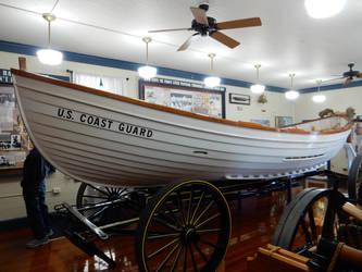 USCG Lifeboat at Ocean City Lifesaving Station by rlkitterman