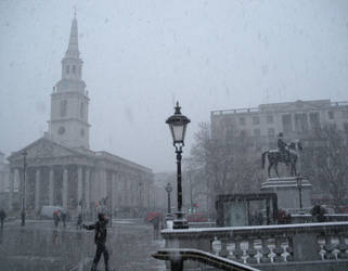 St Martin and King George IV in Winter by rlkitterman