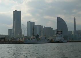 JCG Patrol Ship and Hiryuu FL-01 at Yokohama by rlkitterman