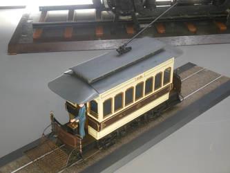 Model Tokyo Electric Tram No. 1 at Teppaku by rlkitterman