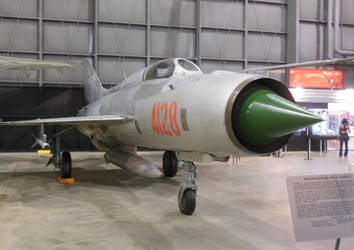 VPAF Red Star Sqn MiG-21PF 4128 at USAF Museum by rlkitterman