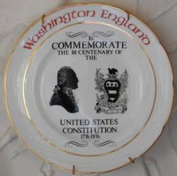 Washington US Bicentennial Plate at Newburn Hall by rlkitterman