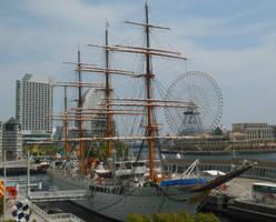 Nippon Maru I at Yokohama Minatomirai 1 by rlkitterman