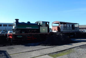 Agecroft No.1 and SR Queen Mary Van at NRM by rlkitterman