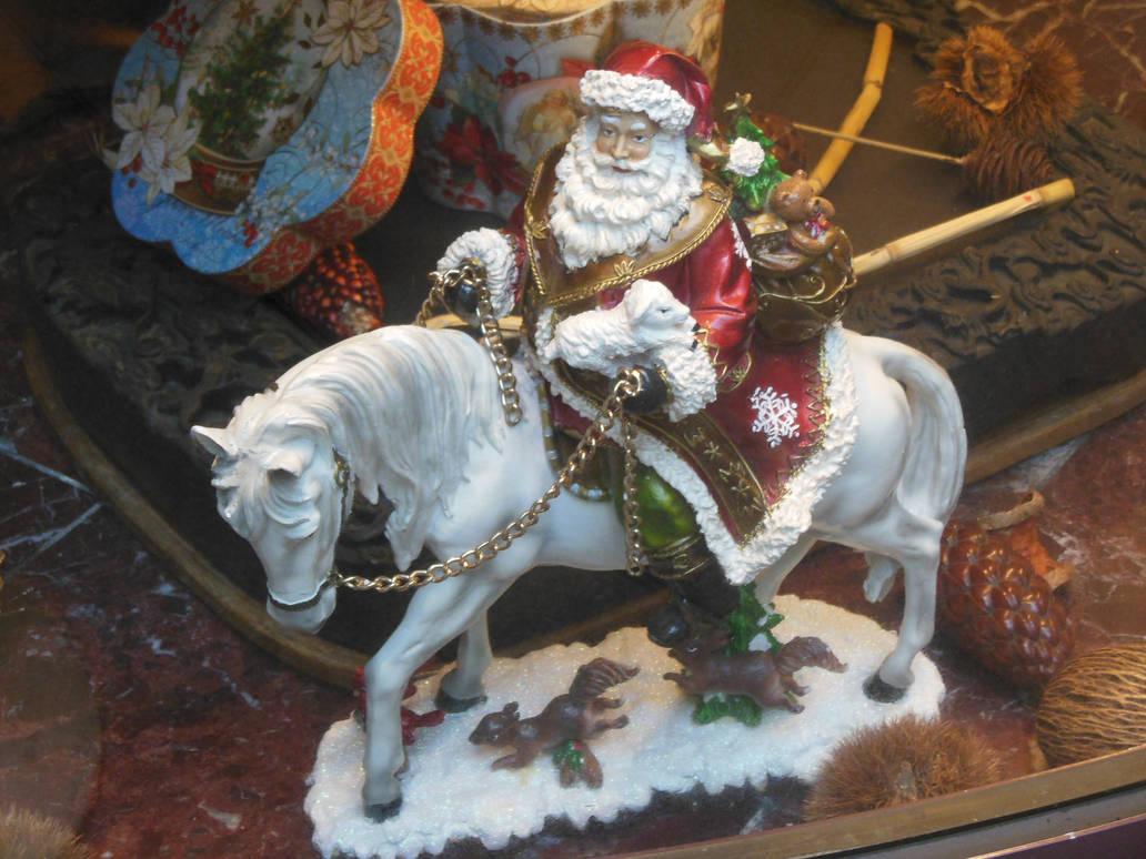 Santa Claus on Horse in Yokohama Chinatown by rlkitterman