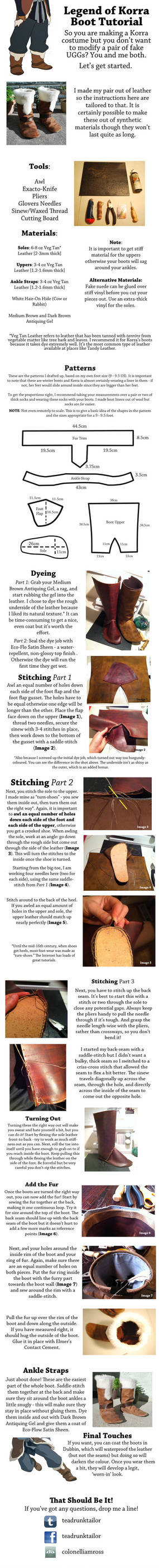 Korra Boot Tutorial by ColonelLiamRoss