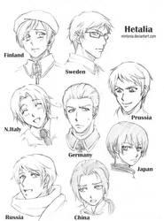 Hetalia Sketches -page 1- by Mintonia