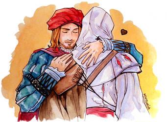 Press X to hug Leonardo by Mintonia