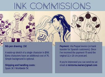 Ink Commissions by Mintonia