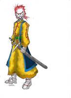 Cyber Samurai color by Stachir