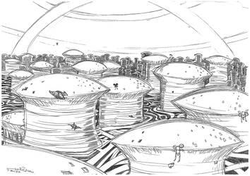 Techno Landscape - Great City by Stachir