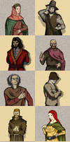 Lublin Legends - AR game - characters by Stachir