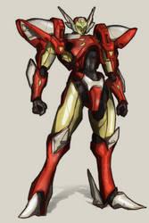 Tekkaman Tony Stark by Stachir
