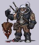 Bold Geralt the Witcher by Stachir