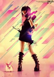 Girl and Rabbit by gesah-Ge