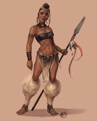 African Warrior by PawnAttack