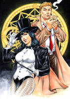 Zatanna and Constantine by Fredbenes