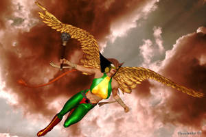 JLB: Hawkwoman by Poserhobbit