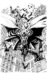 Batman Inc Cover Pencils by YanickPaquette