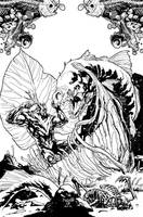 Swampthing cover 14, B/W by YanickPaquette