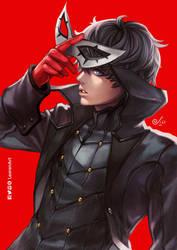 Persona 5 - Akira Kurusu by LeorenArt