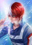 Todoroki Shouto by LeorenArt