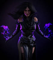 The Witcher 3. Yennefer (Portrait) by Lerova