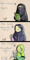 Different types of Hijab! by myrza289