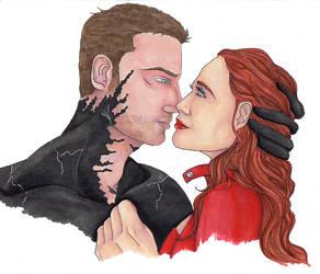 MARVEL - Scarlet and Venom by LadyGhostDuchess