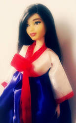 Korean Barbie in Hanbok 2 by gorgonbreath