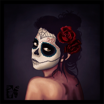 Day of the Dead Speed Paint by Tipsqueak