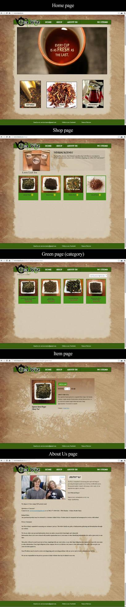 TeaWiz (Web Design) by JessHavok