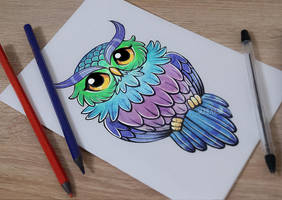 Owl tattoo by Scheadar