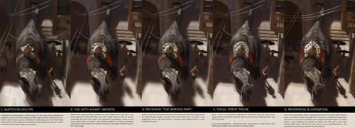 Step-by-Step: Nuns/T-Rex by kepkepkep