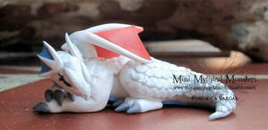 Little Sharista OOAK Polymer Clay Dragon by MiniMythicalMonsters