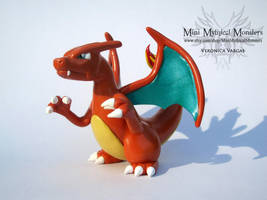 Charizard Handmade Polymer Clay Sculpt by MiniMythicalMonsters