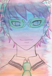 Saiki Kusuo - Watercolor layer experiment by unikorn