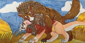 (Battle) Deadly hug by TheBrushFox