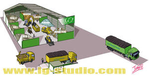 Cutaway of a recycling plant by soyivang