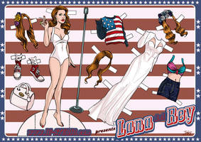Lana del Rey. Paperdoll. by soyivang