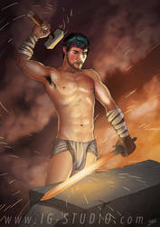True Beefcakes 19  Swordsmith by soyivang