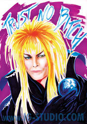 Trust no Bitch 4 Bowie as Jareth by soyivang