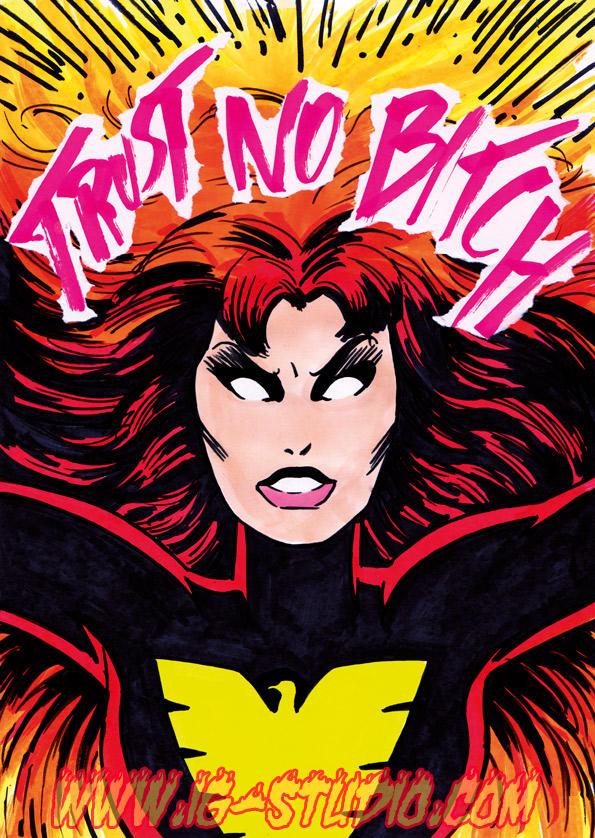 Trust no Bitch 9 Jean Grey as Dark Phoenix by soyivang