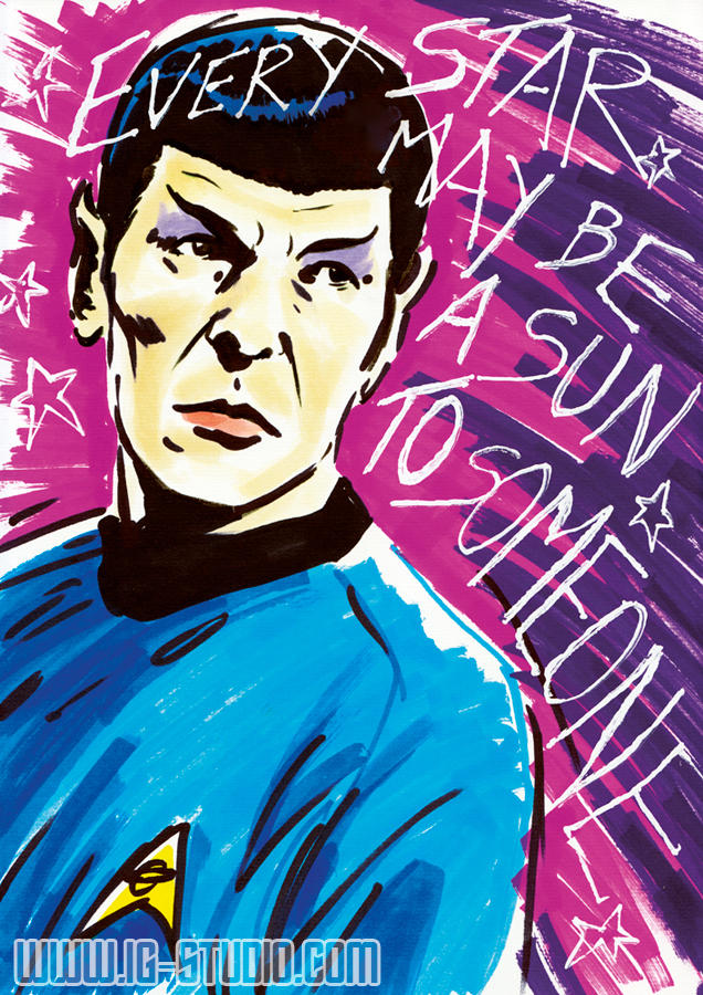 Carl Sagan Reach the Stars - Mr Spock by soyivang